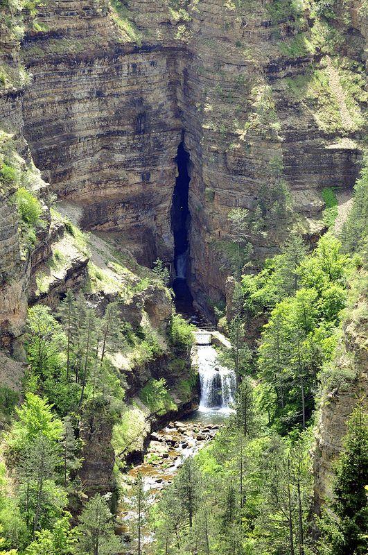 Entre le mont Aigoual et les gorges du Tarn Abime de Bramabiau, Languedoc-Roussillon, France