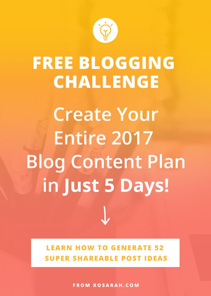 What if you started 2017 knowing exactly what to write about every single week for the ENTIRE year? Take this 5-day challenge and let's create your year-long blog content plan.