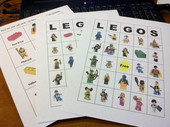 Lego Bingo. $15.00, via Etsy.