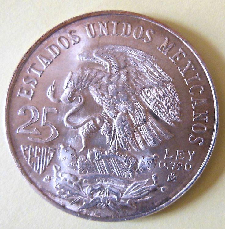 Mexique 25 Pesos Argent Grand Module Jeux Olympiques À Mexico 1968