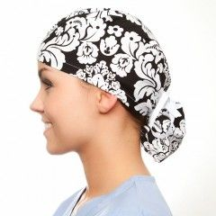 Ponytail surgical scrub O.R. hat pattern tutorial. Rough pattern but free.