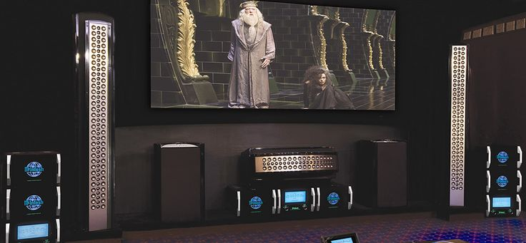 McIntosh Reference System Audio Home Theater System, 2000 Watt Mono Power Amp, Center Channel Speaker