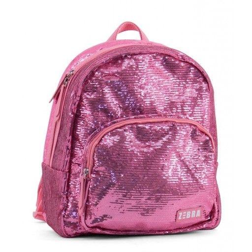 Rugzak pailletten roze, Zebra Trends Deze glitter & glamour rugzak is bedekt met roze pailletten en is te sluiten door middel van een rits en bevat een handvat en verstelbare schouderbanden. Ook is de tas voorzien van een opberg vak aan de buitenkant en 2 drinkbekervakken aan de binnenkant. #zebratrends #rugzak #meisjestas #kindertas #glitterandglamour #engeltjesendraken