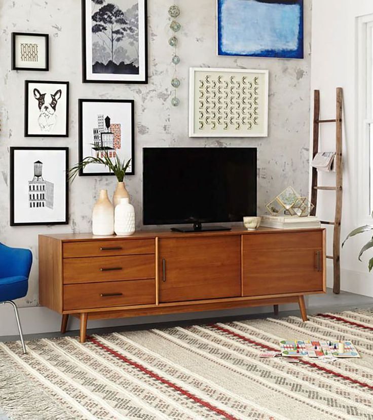 West Elm Mid-Century Media Console Styling                                                                                                                                                                                 More