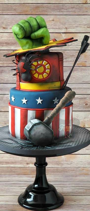 Avengers Cake (Cake Boy) - Visit to grab an amazing super hero shirt now on sale!