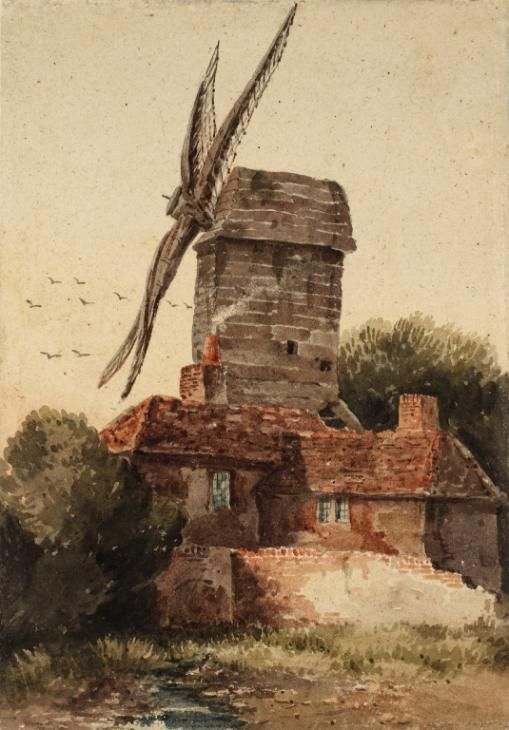 Artwork page for 'Windmill', David Cox