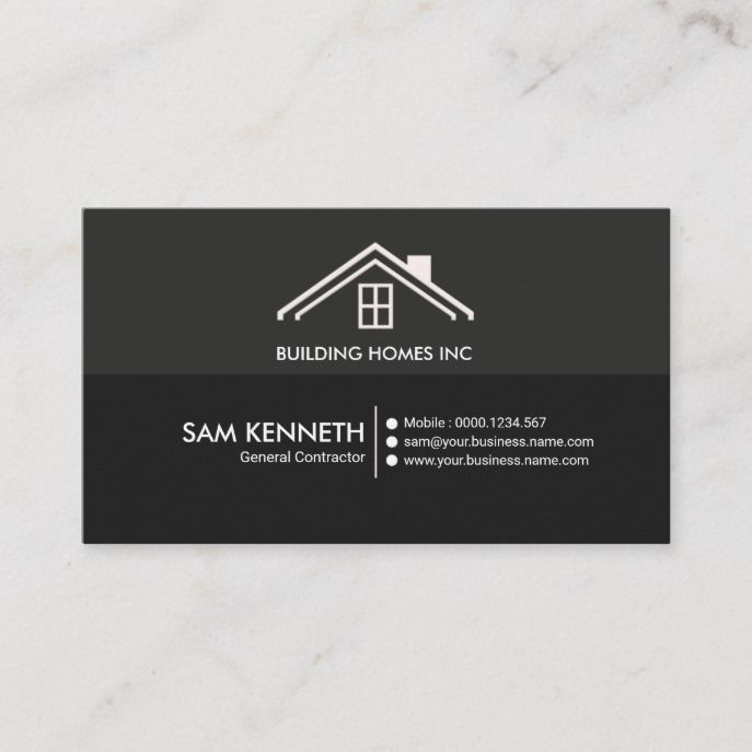 Simple Plain Creative Professional Construction Business Card Zazzle Com In 2020 Construction Business Cards Construction Business Graphic Design Business Card