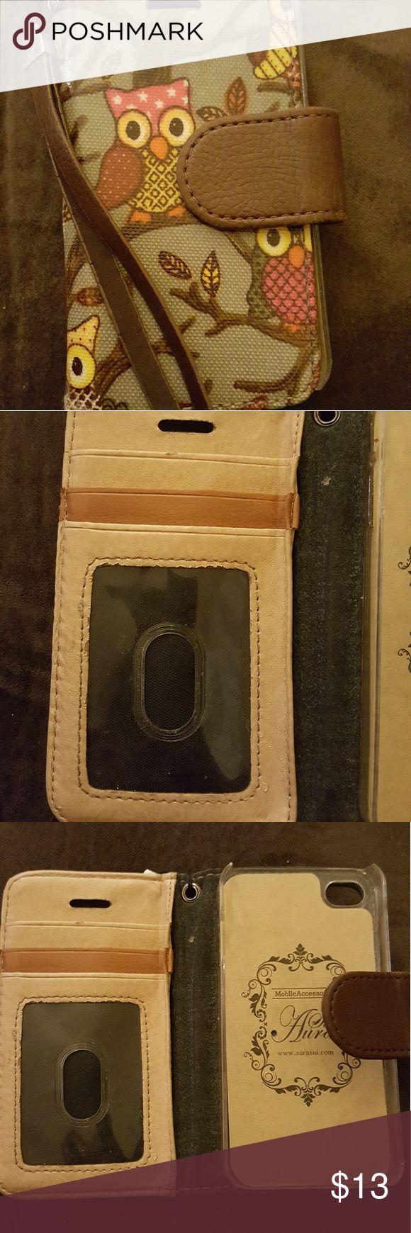 New owl decorated cellphone case/wallet Lightweight. Super cute! aurasuri Accessories Phone Cases
