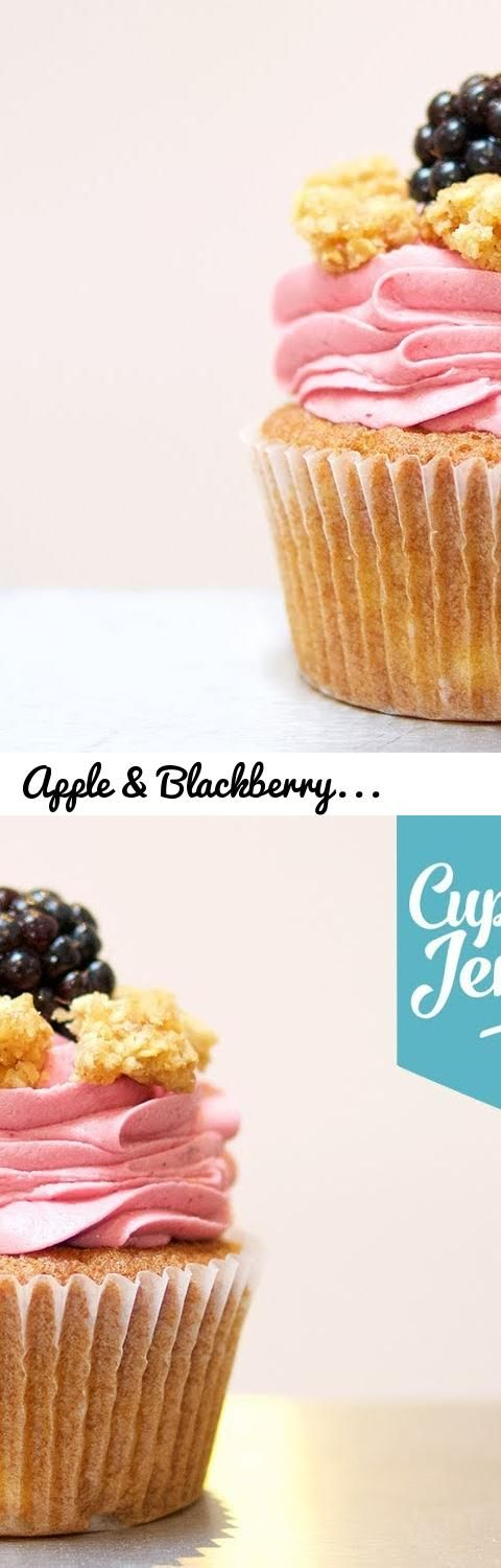 Apple & Blackberry Crumble Cupcake Recipe | Cupcake Jemma... Tags: cupcake, cupcakes, cupcake jemma, jemma wilson, crumbs and doilies, cupcakery, bakery, apple, bramley, apple pie, recipe, crumble, apple crumble, blackberry, blackberries, autumn, summer, fruits, fruit cake, apple compote, blackberry jam, jam, compote, cooking, baking, home made, how to make, how to make