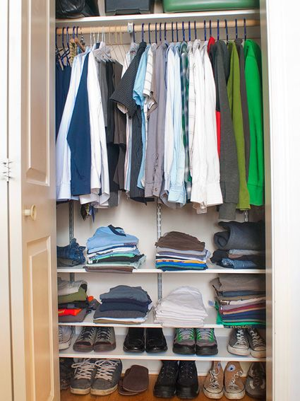 this is a really handy idea considering how small closets are in most homes in vancouver and how that space beneath the clothing is wasted space.  could be good for shoes or for baskets to hold things like socks.