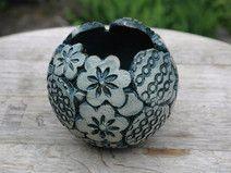 Pflanzkugel-Keramik--Jadegrün