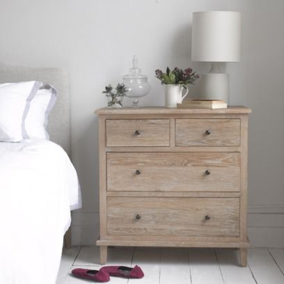 LEGACY Inspired by an old (and somewhat rickety!) piece of furniture we saw in Brittany one summer, we've used solid weathered oak here which goes brilliantly with our French beds.