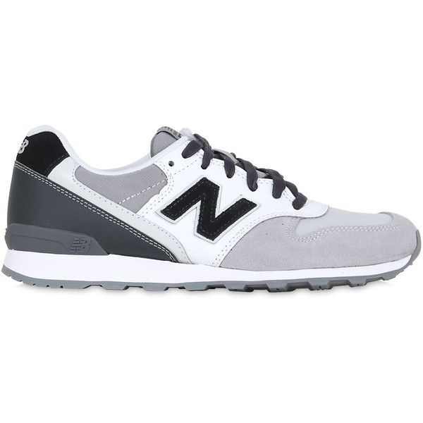 New Balance Women 996 Nylon & Suede Sneakers (33.525 HUF) ❤ liked on Polyvore featuring shoes, sneakers, suede leather shoes, color block shoes, suede sneakers, nylon sneakers and colorblock shoes