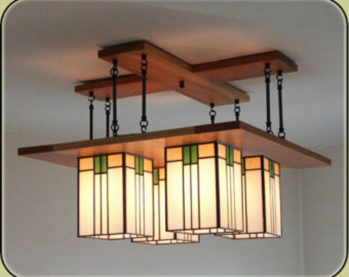 Prairie Chandelier - Craftsman Light Fixture - Large Size