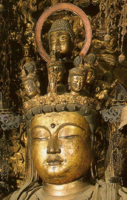 Senju Kannon (Closeup), 12th Century, Sanjusangendo in Kyoto