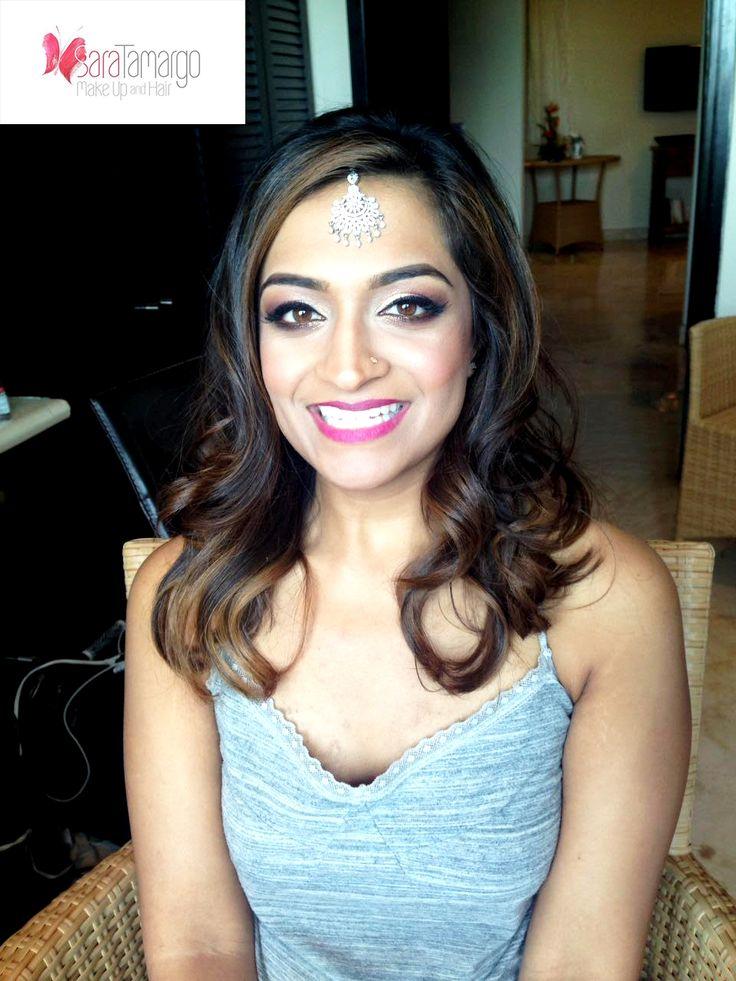 Maquillaje para novias hindu, boda en cancun