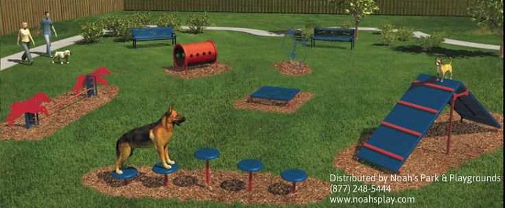 Intermediate BarkPark™ Kit- While dog ownership is on the rise, the ever-increasing development of urban areas has made open play spaces for dogs increasingly scarce. This poses new challenges that require redesigning municipal parks, residential communities and other spaces to include areas where pets and people can freely interact. (http://www.noahsplay.com/park-equipment/intermediate-barkpark-kit/)
