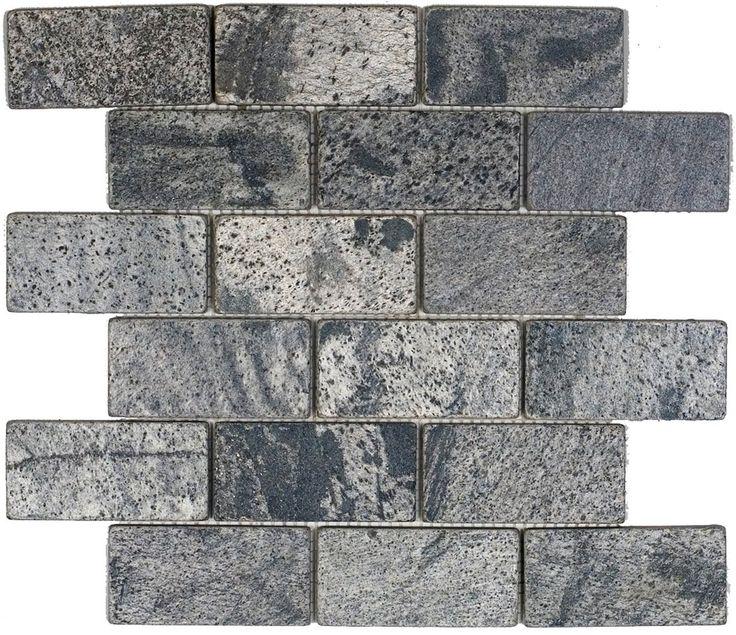Epoch Tile OG2X4 2x4 Tumbled Slate, Ostrich Grey   Ceramic Floor Tiles    Amazon.