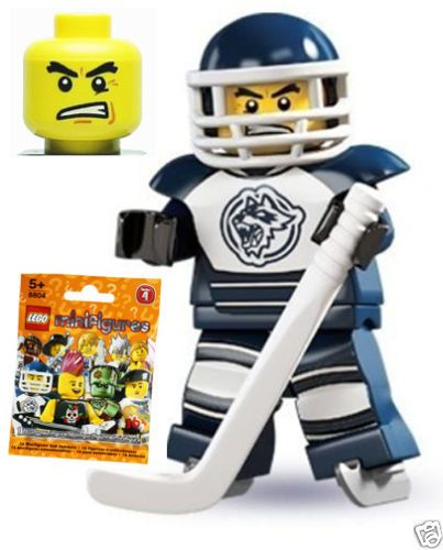 Genuine-LEGO-Series-4-8-HOCKEY-PLAYER-Minifigure-NEW-in-Sealed-Package