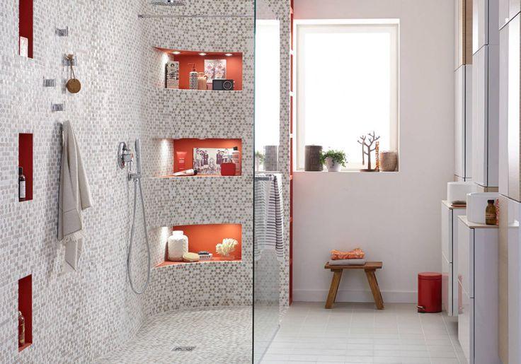 Un sol de salle de bains en mosaïque