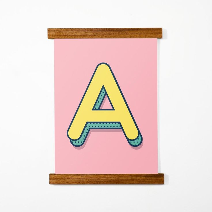 Custom Letter Poster, Pink, a3