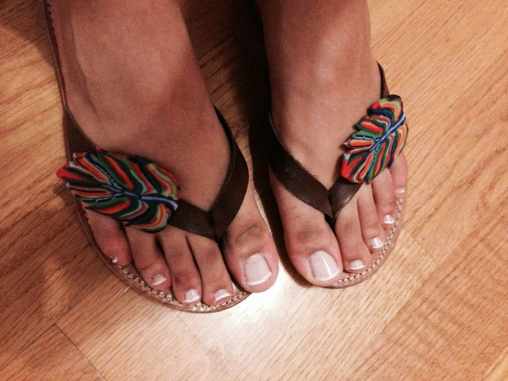Plymer Clay Feather Sandals