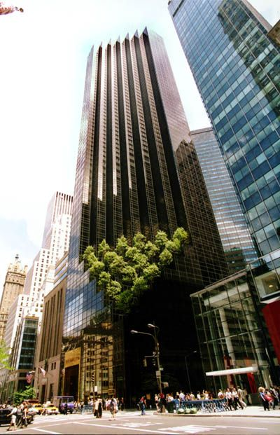 Trump Tower, NE corner of Fifth Avenue & 56th Street, opened 1983