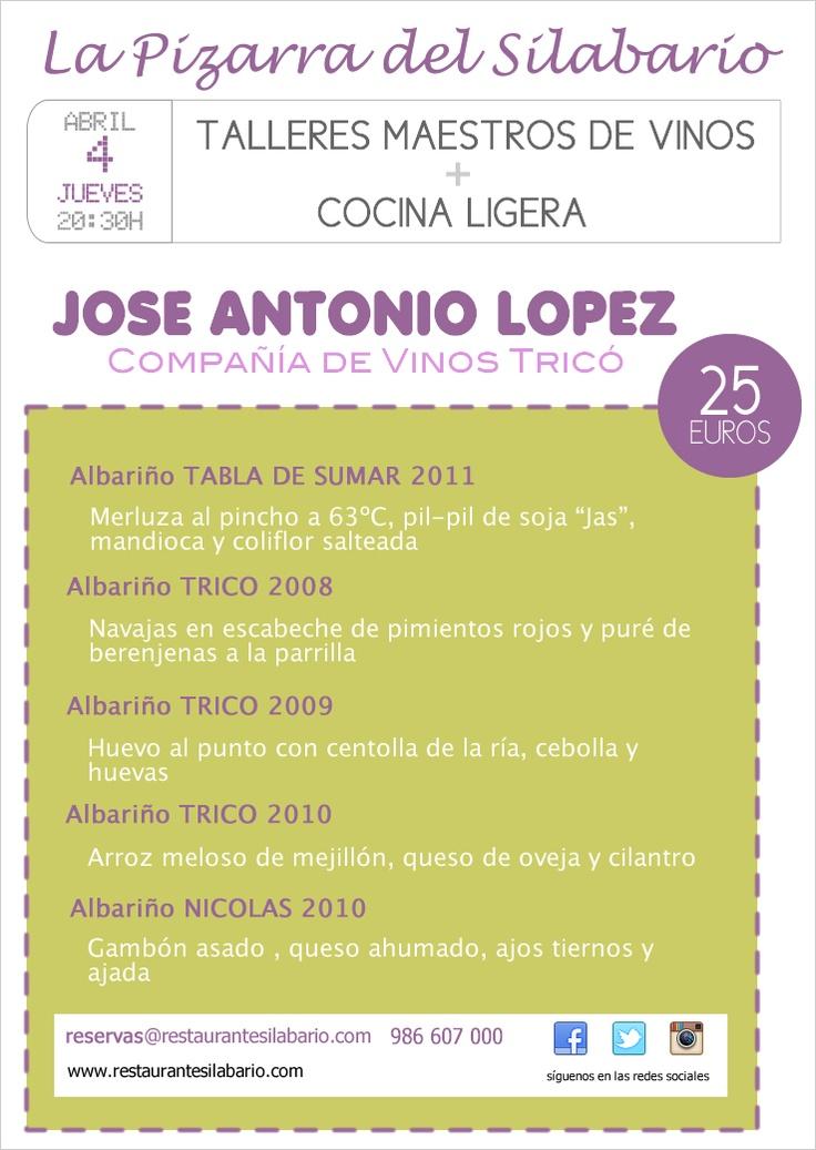 Taller Maestro de Vinos con Jose Antonio López