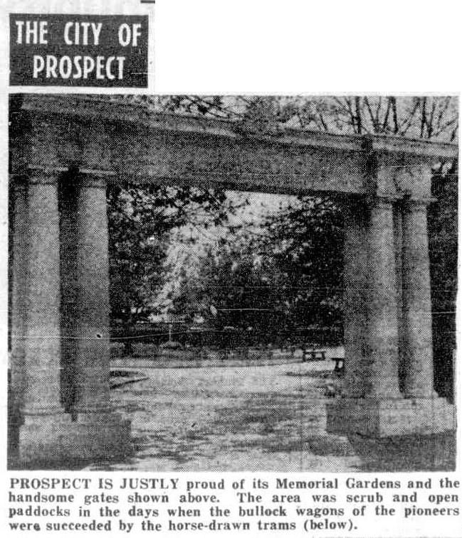 News (Adelaide, SA : 1923 - 1954), Tuesday 31 August 1954, page 18 City of Prospect Memorial Gardens
