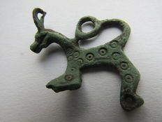 Vroeg middeleeuwse bronzen Viking Lynx hanger - 30mm/4gr