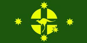 Australian flag proposal _ John Williamson, Fair Dinkum Flag (1983)