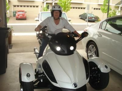 My new baby! 2010 Can Am Spyder RS-S w/backrest; upgrade pipe.  Back into biking after 41 yrs.  Cant wait to letter rip!