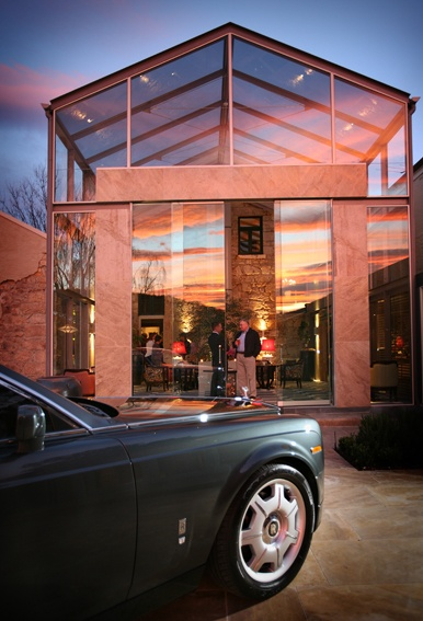 Rolls Royce on the patio