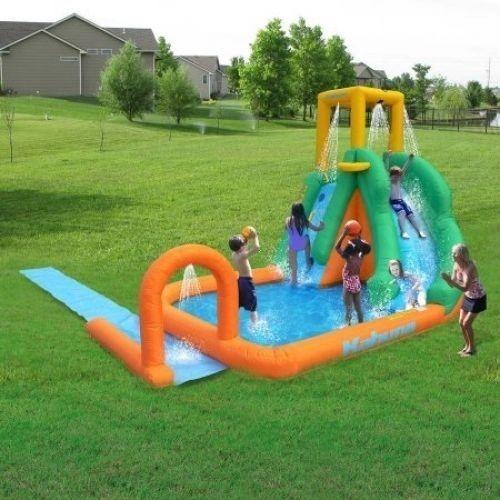 Twist Blast N Slide Waterslide Inflatable Water Bounce Outdoor Games Backyard
