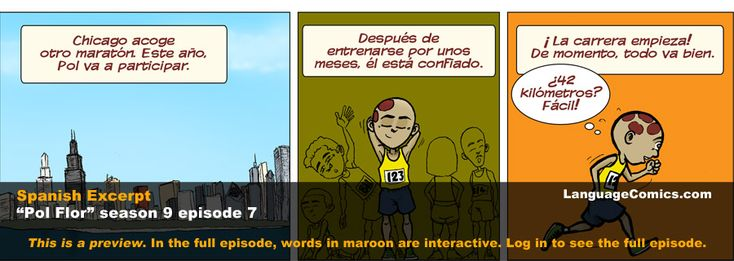 Learn Spanish ~ En el Maratón de Chicago | At the Chicago Marathon ~ S9e7