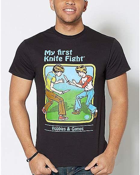 126f5316 My First Knife Fight T Shirt - Steven Rhodes - Spencer's | Tops #2 ...