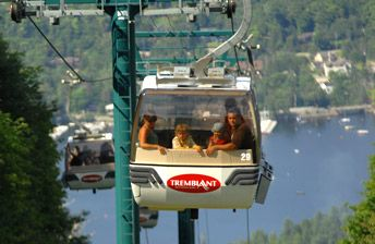 Mont Tremblant - gondola to highest peak in the Laurentians & then we hiked down. Beautiful.