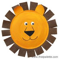Paper Plate Lion craft // Check out this site for tons of animal crafts that would go great at a Zoo themed party!