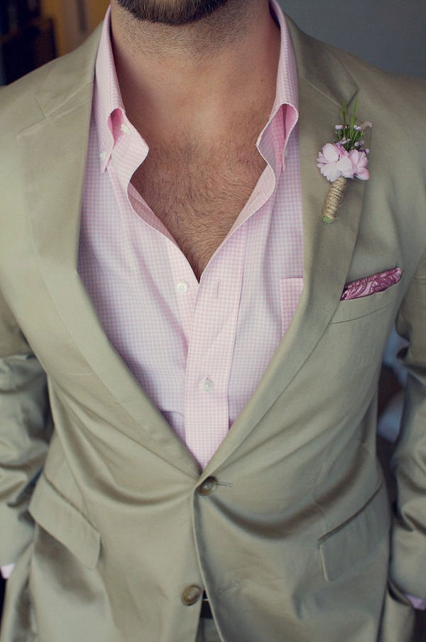 pink and tan. a little chest hair? refreshing!