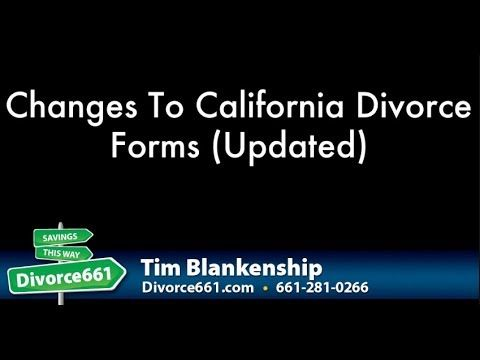 Forms divorce california pdf