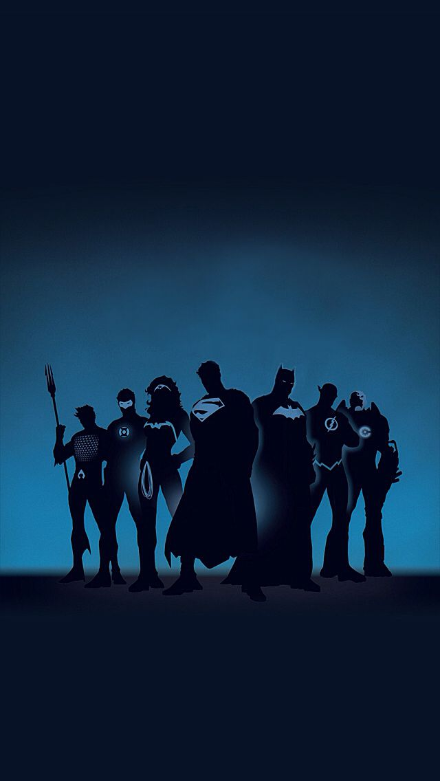 Justice League;  iPhone Wallpaper.