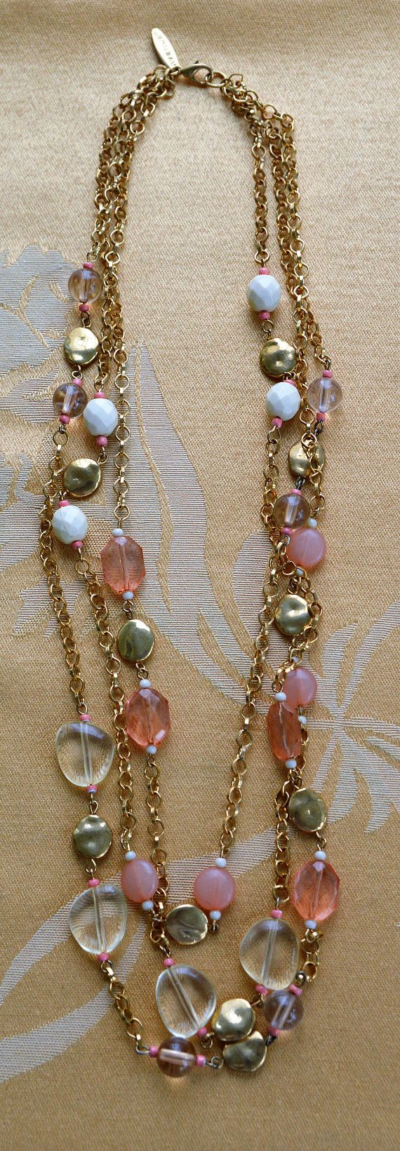 En venta color de rosa crema tono oro con cuentas múltiples