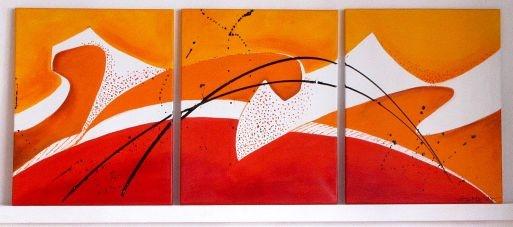 Cuadros Abstractos tripticos