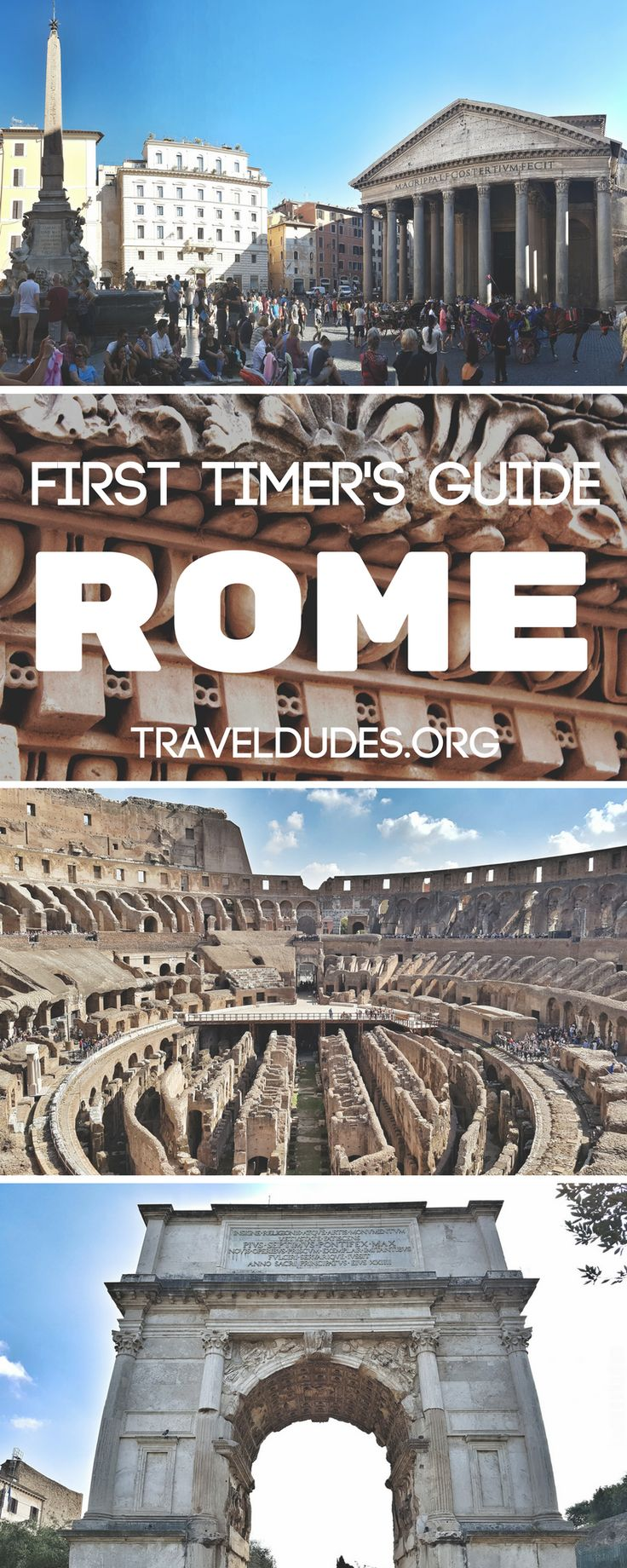 There are endless things to do in Rome, Italy and it can be overwhelming to figure out how to prioritize your time on a first time visit to the eternal city. This beginner's guide to Rome includes all of the must-see attractions and experiences that one should see over three or four days in the city, as well as insider tips and tricks to save time and money along the way. Travel in Italy. Travel Dudes Social Travel Community #Rome #Italy