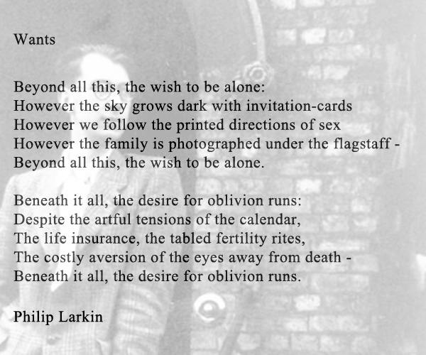 philip larkins poetry essay Support your answer with reference to both the themes and language found in the poetry of philip larkin on  based on a leaving cert 2016 student essay and 2014.