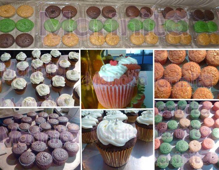 Variedad de cupcakes de sabores y colores!!
