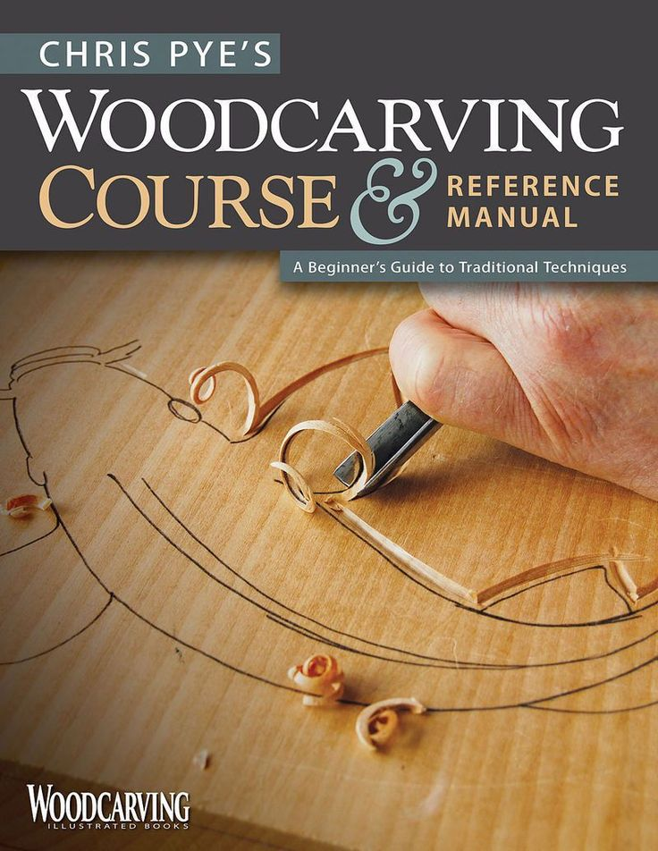 """Chris Pye's """"Woodcarving Course"""" gives the beginner everything needed to begin woodcarvng with simple, traditional techniques."""