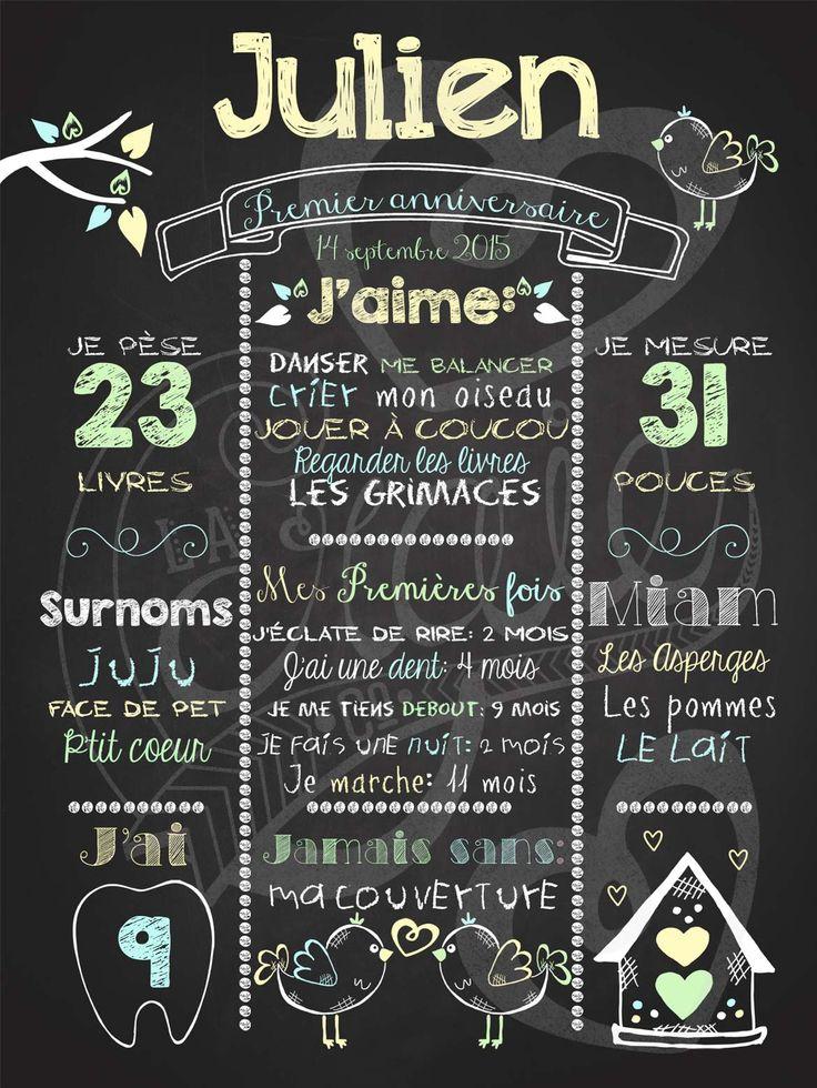 Affiche personnalisée 1er anniversaire Love shack (jaune)   28,00$ #chalkboard