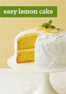 Easy Lemon Cake -- Remember the last time you used just 4 ingredients to deliver a spectacular dessert? We didn't think so. Wow 'em tonight with a showstopping recipe that's almost too easy.