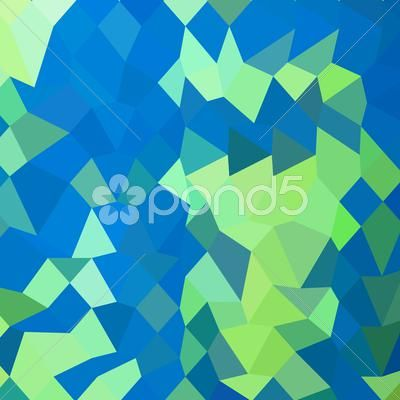 Stock Illustration of Dark Cyan Abstract Low Polygon Background